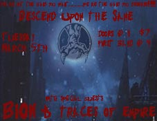 Flyer for Descend Upon the Sane